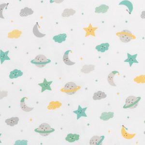 Slumbersac kesäunipussi (0,5tog), 3-6v, Moons and Stars